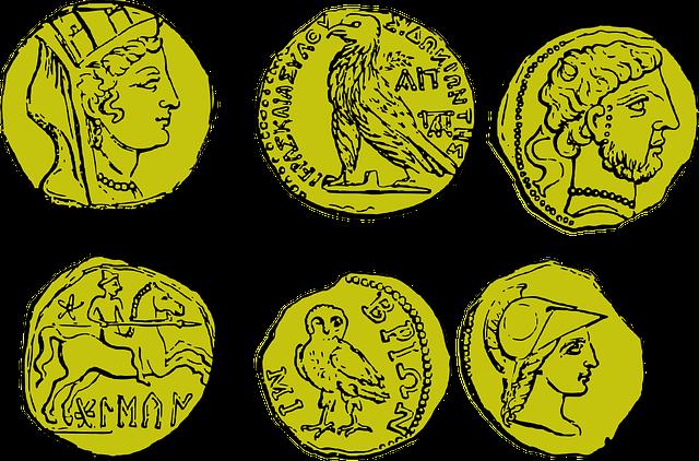 Monedas antiguas, monedas fiduciarias