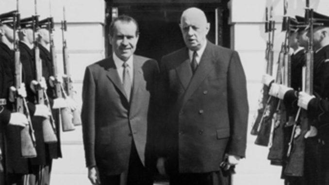 Nixon y De Gaulle, patron oro